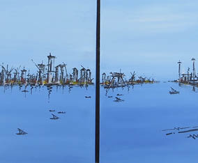 Art Commission: Doha diptych 2014