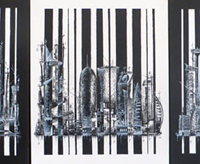 Barcoded Doha triptych 2015